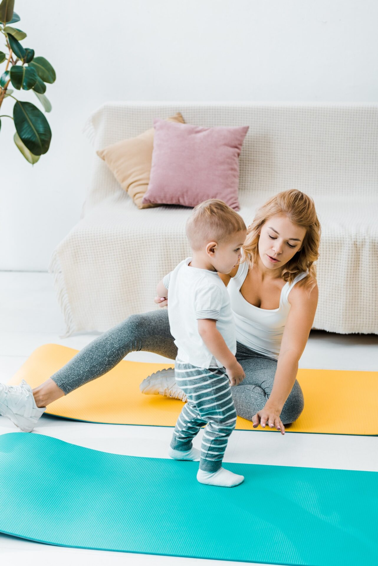 Mom exercising Vesta